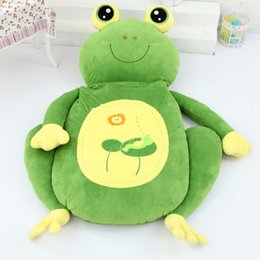 Wholesale Beanbag Free Shipping - High quality Low price Cartoon Animal frog Beanbag Soft Plush Huge Bed Sofa Mattress Carpet Tatami 2 Sizes Free Shipping