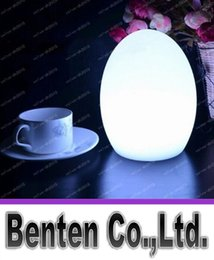 Wholesale Led Table Glow Lights - Colorful LED Egg bar table lamp Break-resistant, rechargeable LED glowing lighted egg night light for Christmas,club,bars LLFA