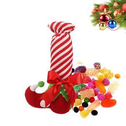 Wholesale Candy Shaped Gift Bag - Christmas gift bag Elf shape stocking For Candy wine bottle bag X-mas gift 1 lot=10 pcs