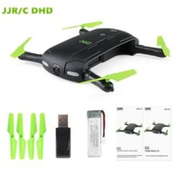 Wholesale Rc Connections - JJRC DHD D5 Selfie FPV Drone With HD Camera Foldable RC Pocket Drones Phone Control Helicopter Mini Dron VS JJRC H37 523 Quadcopter