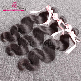 """Wholesale Cheap Wavy Remy Hair - Natural Black Body Wave Brazilian Hair Weave Cheap Remy Virgin Human Hair Extensions Greatremy Factory Outlet Wavy Hair Bundles 8""""-34'"""