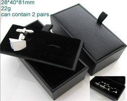 Wholesale Cufflinks Deals - Brand New 96pcs Leather Cufflinks Holder Cufflinks Boxes Super Deal for Chirstmas