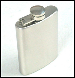 Wholesale Wholesale Bottles For Alcohol - Stainless Steel mini Hip Flask 3.5oz Liquor Alcohol wine Whisky pocket Flagons bottle wine pots men outdoor sport wine sets for men 240401
