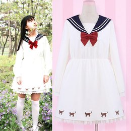 Wholesale Cute Sailor Costumes For Women - 2016 New Brands Cosplay Anime Sailor Moon Sailor Dress For Party Dresses Cute Japanese Kawaii Clothing Lolita Dress