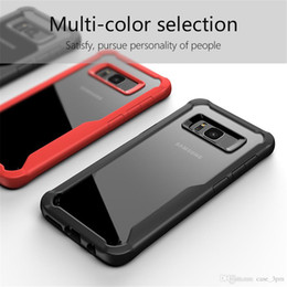 Wholesale Galaxy Hard Phone Cases - for Samsung S8 mobile phone shell SamsungS8 + mobile phone shell Galaxy S8plus silicone soft hard drop protection sleeve Original