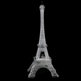 Wholesale Eiffel Tower Decorations Wedding - Mini Romantic Eiffel Tower Desk Bedroom Night Light Decoration Table LED Lamp