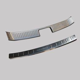 Wholesale Door Sill Kia - High Quality Rear Bumper Protector Step Door Sill Plate Trunk Trim Accessories 2PCS Fit For 2013 2014 KIA SORENTO