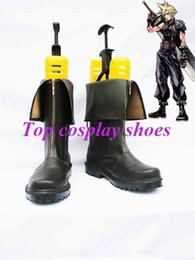 Wholesale Cloud Cosplay - Wholesale-Freeshipping custom-made anime Dissidia Final Fantasy VII Cloud Cosplay Boots shoes for Halloween Christmas festival