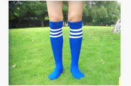 hockey meias de nylon Desconto Atacado-Casual Homens Esportes Futebol Futebol Meias Longas Sobre o Joelho Alta Meia De Beisebol De Hóquei Por Atacado