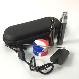 Wholesale Solid Vaporizer Pen - Quartz wax coil vaporizer pen puffco wax attachment e solid wax shatter smoking pen deep bowl ceramic heating vaporizer e cigarette