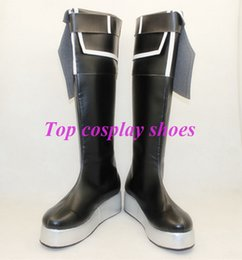 Wholesale Vocaloid Cosplay Custom - Wholesale-Vocaloid Black Rock Shooter cosplay shoes boots ver new ver 2 male ver female size #TS063 Custom made