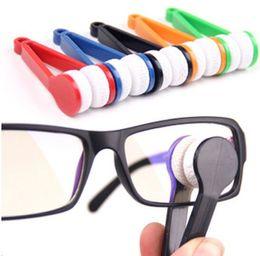 Wholesale Clean Microfiber - 600pcs Essential Mini Portable Microfiber Spectacles Sun Glasses Cleaner Microfibre Eyeglasses Clean Wipe