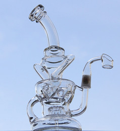 Wholesale nail gear - New arrival glass water pipes quartz banger nail, new egg glass bongs Recycler with gear perc 14.5mm male joint