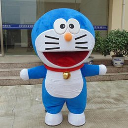 Wholesale Cat Mascot Head Costumes - High Quality Big Head Doraemon Mascot Jingle Cats Mascot Costumes Adult Cartoon