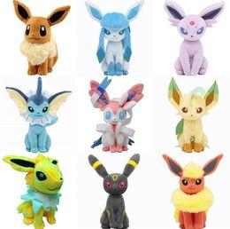 Wholesale Pokemon Center Pikachu Plush - Poke Toys 20cm Poke Center Plush Toys Pikachu Dolls Jolteon Umbreon Flareon Eevee Espeon Vaporeon Poke Mon Stuffed cartoon Toys 4266