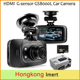 Wholesale Hdmi Dvd Dvr - Free DHL Car DVR HD 1080P Vehicle Camera Video Recorder Dash Cam G-sensor 2.7 inch screen HDMI GS8000L Car DVD Camera