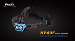 Wholesale Headlamp Cree Fenix - New Fenix Hp40F Fishing Headlamp Cree XP-E2 M3 LED Blue Light +XP-G2 R5 LED 450lm without disturbing fish Flashlight Lanterna