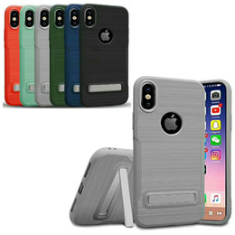 Wholesale Ring Blue Dark - New Finger Grip Phone Case For iPhone X iphone 8 8Plus 6 6S TPU Ring Holder Cell phonesCase For Goophone S8 Goophone i7