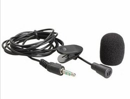 Wholesale Mini Microphone For Pc - New Arrive 1.5M Mini 3.5mm Hands Free Clip On Mini Mic Microphone For PC Notebook Laptop MSN