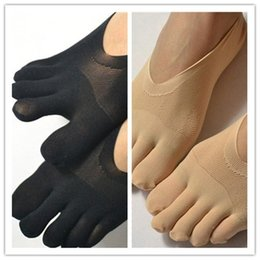 Wholesale yoga toe socks black - New Women Sexy Ultrathin Invisible Five Finger For Girls Hollow Female Toe Socks