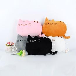 Almohadas grandes y largas online-Genuino Plush Cat Cojín Cute Lazy Cat Bolster Long Tail Miau estrella almohada decoración del hogar Chunk Big Cat Cushions