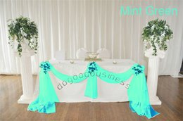 Wholesale Organza Fabric For Curtains - 1 Mint Green organza sheer fabrics for curtain crystal organza material for wedding backdrops decor(21 color)(China (Mainland))