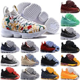 Wholesale New Arrival For Winter Man - 2017 New Arrival with Zipper James 15 Basketball Shoes for High quality LBJ 15s Wolf Grey Flowers Airs Cushion Sports Sneakers Size 7-12