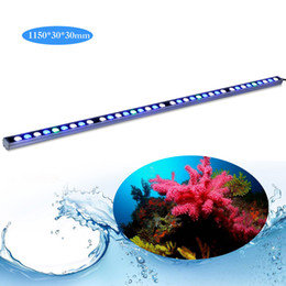 Wholesale White Led Strip Aquarium Lights - high power Waterproof 108w LED aquarium stripe light bar white &blue ip65 for reef coral fish tank using lamp stock in USA DE