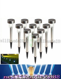 Wholesale Solar Landscape Lights Stainless Steel - LED Solar Lamps Waterproof Outdoor LED Solar Lights Stainless Steel LED Landscape Garden Path Light Garden Solar Light Lawn Light LLFA