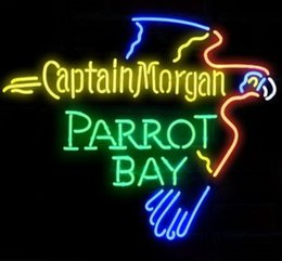 Wholesale Captain Morgan Neon - New Captain Morgan Parrot Bay Glass Neon Sign Light Beer Bar Pub Sign Arts Crafts Gifts Lighting Size: 22""