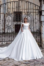 Wholesale Wedding Dress Ball Gown Satin Pocket in Bulk from Best ...