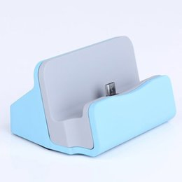 Wholesale Micro Usb Cradle - Wholesale-Micro USB Charger Base Desktop Charging Stand Sync Dock Data Cradle For Samsung Galaxy A5 A500F Pocket 2 G110 G110H