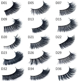 Wholesale Model Strips - good quality 3d Mink lashes Thick real mink HAIR false eyelashes natural for Beauty Makeup Extension fake Eyelashes false lashes 15 Models