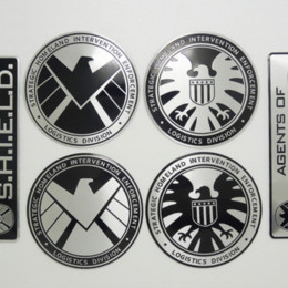 Wholesale Marvel Accessories Wholesale - Multitype Personalized Stickers Marvel Agents of Shield Sticker Emblem Badge Car styling Car Decals Creative Auto Accessories