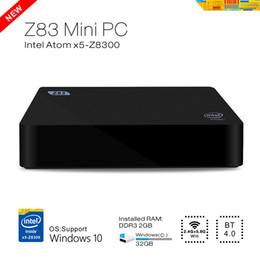 Wholesale Pc Atom - Wholesale-DMY Mini PC Z83 Intel box Windows 10 OS pc Atom X5-Z8300 2GB 32GB Quad-core Media Player support WiFi BT4.0 1000 Mbps Ethernet