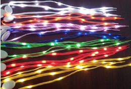 Wholesale Abs Hair - 30pcs(15 pairs) LED Flashing shoe laces Fiber Optic Shoelace Luminous Shoe Laces Light Up Shoes lace
