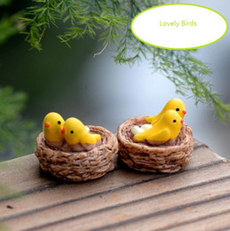 Wholesale Landscaping Article - Moss micro landscape mini ornaments furnishing articles furnishing articles Oriole birds Cartoon free shipping DT19