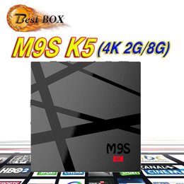 Wholesale Ddr 2g - M9S k5 Android OTT TV Box 2G DDR 8G Flash Android 6.0 KD 17.3 Fully Loaded RK3229 Smart TV Box 4K WiFi 3D Free Movies
