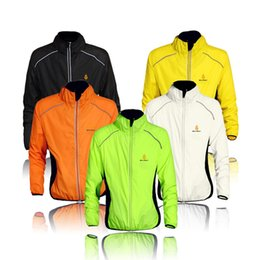 Wholesale riding coats - WOLFBIKE Cycling Jersey Men Riding Breathable Quick-dry Jacket Cycle Clothing Bike Long Sleeve Wind Coat 5 Color 2510012