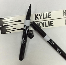 Wholesale Metallic Liners - Kylie liquid eyeliner Pen eye make up eyeliner pencil makeup Gel Thin Design Waterproof Eyeliner pen for KYLIE eye liners 2 Colors