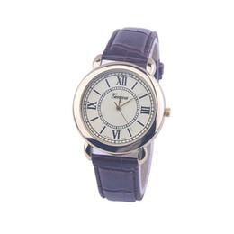 Wholesale Wholesale Super Luxury Watches - 2016 Super Geneva Watch Women Gentleman Casual Watches Luxury Genuine Leather Men Quartz Wristwatch children gifts