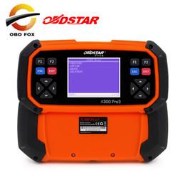 Wholesale Odometer Correction Key Programmer - OBDSTAR X300 PRO3 Key Master English Version OBDII Key Programmer Odometer Correction Tool EEPROM PIC X300 DHL free shipping
