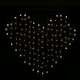 tende rosse calde Sconti Viola stringa di luce a led Bianco caldo rosso led luci corde 110 v 220 v US EU Plug luci led tenda natale fata luci a led matrimonio