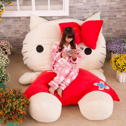 Wholesale Large Size Korean Dolls - 2016 Korean Huge Comfortable Hello Kitty Cute Cat Soft Cartoon Bed Sleeping Bag Pad Filling Stuffed Plush Tatami Big Large Size Toys Doll