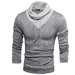 Wholesale European Mens Sweaters - Hot sale New fashion mens sweaters man pullover turtleneck sweater T-shirts apparel Men's Clothing Free Shipping