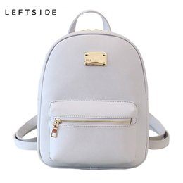 Wholesale Backpack Cooler Pocket - New Fashion Back Pack Women PU Leather Bag Packs Female Cool Classic Backpacks Bookbag For Teenage Girls Bags 171103