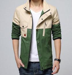 Wholesale Mens Korean Fashion Clothes - Hot Sale New Fashion Brand Patchwork Mens Jacket Korean Slim Fit Mens Designer Clothes Men 100% Cotton Casual Jacket