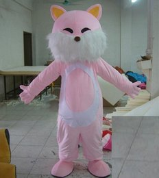 Wholesale Cat Mascot Head Costumes - 0524 free shipping adult kitty cat mascot costume with mini fan inside the head for sale