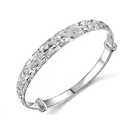 silver bangle bracelets wholesale Coupons - 925 Silver Brand Bangle Women Top Fashion Jewelry All Over The Sky Star Bracelet 925 silver Bangles Free shipping