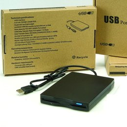 Wholesale Usb Floppy - 1.44 MB USB External Portable Floppy Disk Drive with retail package box
